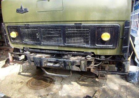 МАЗ-54323: Установка усиленных амортизаторов на кабину