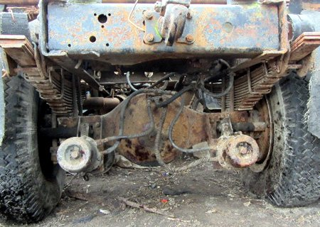 МАЗ-500: Установка заднего моста с грузовика Супер МАЗ
