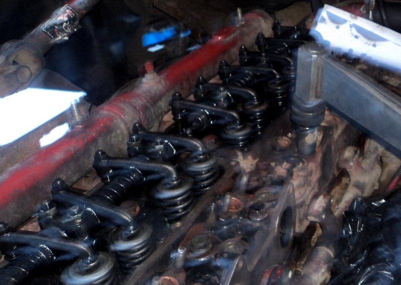 Ивеко Евростар: Регулировка клапанов двигателя Магирус 8210
