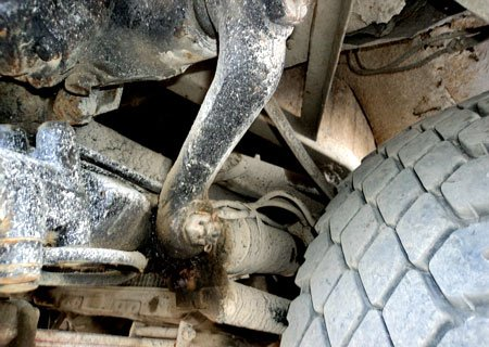 МАЗ-500: Замена цилиндра гидроусилителя на КрАЗовский