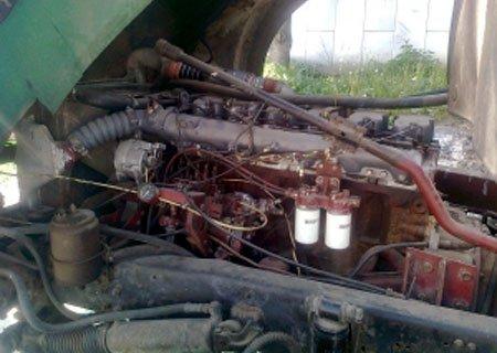 МАЗ-54329: Установка двигателя, КПП и заднего моста от Рено Мажор