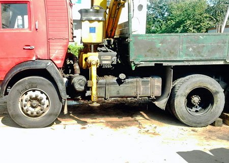 КамАЗ-5320: Замена задних ступиц на клиньях на евроступицы
