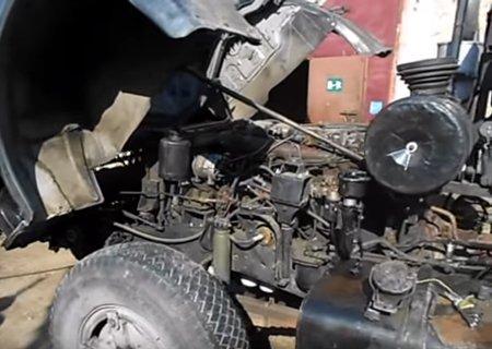 КамАЗ-5410: Установка двигателя Renault MIDR-062045 и КПП Renault B9